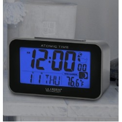 La Crosse Technology Atomic Alarm Clock w/Indoor Temperature and Moon Phase